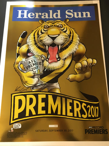 2017 Limited Edition Foil Poster with Official AFL Premiership Magazine