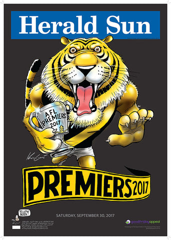 Mark Knight PREMIUM LIMITED EDITION Premiership Poster 2017 - NEW IN 2017