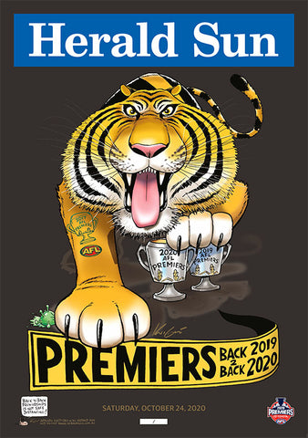 2020 MARK KNIGHT PREMIUM LIMITED EDITION PREMIERSHIP POSTER - GENERAL RELEASE