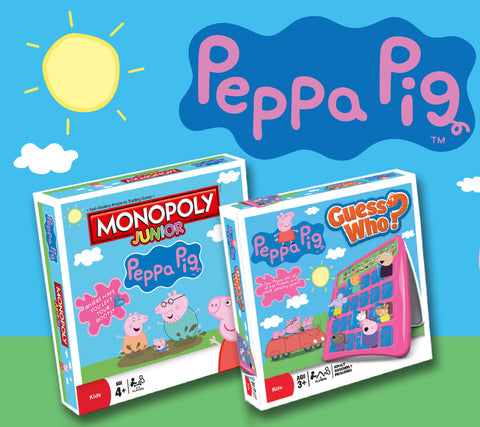 Peppa Pig Board Game Duo - Junior Monopoly and Guess Who