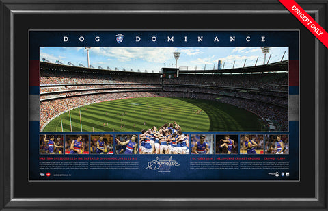 2016 AFL Premiership Signed Panoramic Print