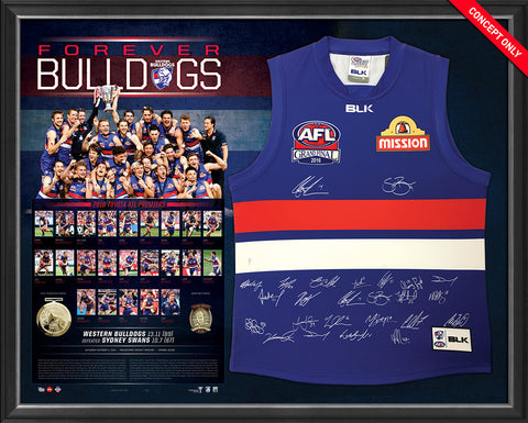 2016 AFL Premiership Team Signed Guernsey - Forever Bulldogs