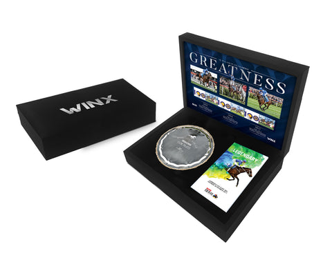 Official Winx Memorabilia - REPLICA COX PLATE & SIGNED RACEBOOK IN PRESENTATION BOX