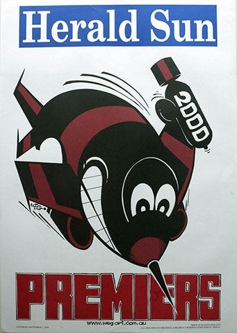 WEG Premiership Poster - Essendon 2000