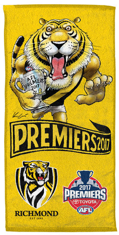 2017 Mark Knight Premiership Beach Towel - PRE-ORDER FOR DECEMBER DELIVERY