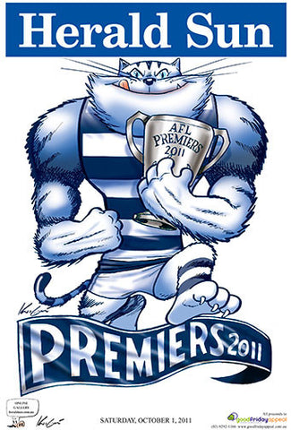 Mark Knight Premiership Poster - Geelong 2011