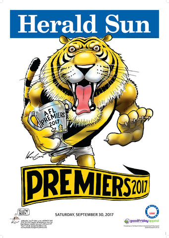 Mark Knight LIMITED EDITION Premiership Poster 2017