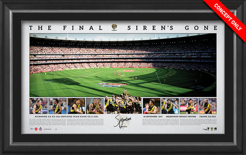 2017 AFL Premiership Signed Panoramic Print