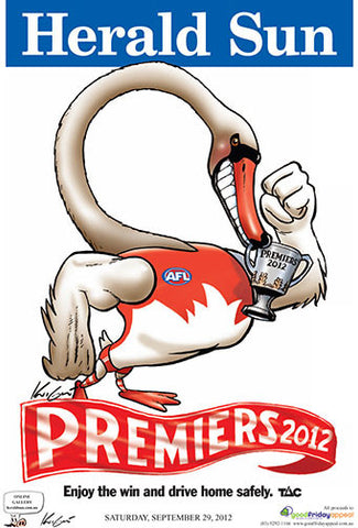 Mark Knight Premiership Poster - Sydney 2012
