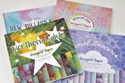 "Designer Paper Collection - 4 Packs 8"" x 8"""