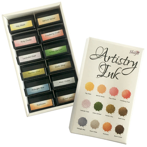 Artistry Ink Mini Ink Pads - Hay Stack Collection (Box of 12)
