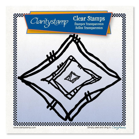 Leonie's Nested Diamond Scribbles Unmounted Clear Stamp Set