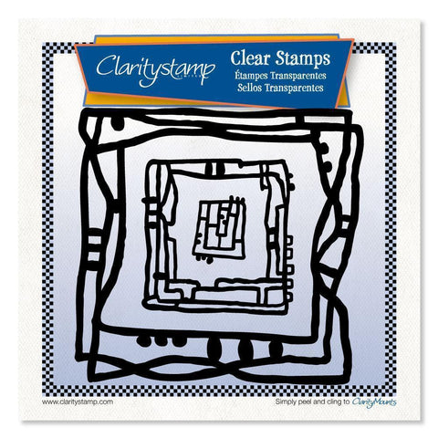 Leonie's Nested Square Scribbles Unmounted Clear Stamp Set
