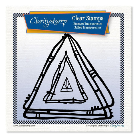 Leonie's Nested Triangle Scribbles <br/>Unmounted Clear Stamp Set