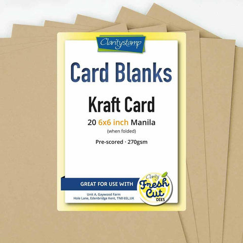 "Kraft Card Blanks <br/>6"" x 6"" x20"