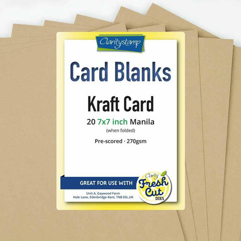 "Kraft Card Blanks <br/>7"" x 7"" x20"