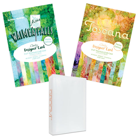 "Waimea Falls & Toscana Designer Card Bundle 5"" x 7"" - Petite Edition + Folder"