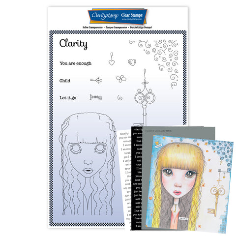 Large Dee's Friends - Clarity <br/>Unmounted Clear Stamp Set <br/>+ MASK & 2x Phrase Sheets