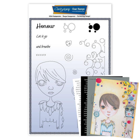 Large Dee's Friends - Honour <br/>Unmounted Clear Stamp Set <br/>+ MASK & 2x Phrase Sheets