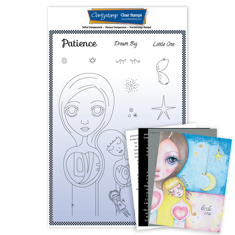 Large Dee's Friends - Patience <br/>Unmounted Clear Stamp Set <br/>+ MASK & 2x Phrase Sheets