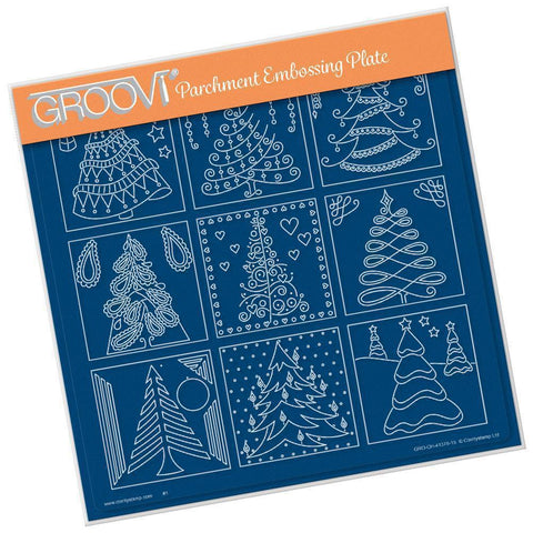 Barbara's Christmas Tree Sampler <br/>A4 Square Groovi Plate