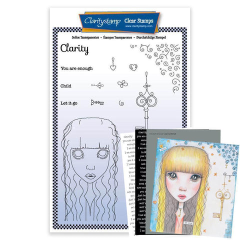 Dee's Friends - Clarity <br/>Unmounted Clear Stamp Set <br/>+ MASK & 2x Phrase Sheets