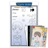 Dee's Friends - Honour <br/>Unmounted Clear Stamp Set <br/>+ MASK & 2x Phrase Sheets