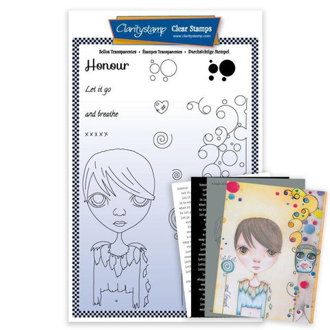 Dee's Friends - Honour Unmounted Clear Stamp Set + MASK & 2x Phrase Sheets