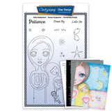 Dee's Friends - Patience Unmounted Clear Stamp Set + MASK & 2x Phrase Sheets
