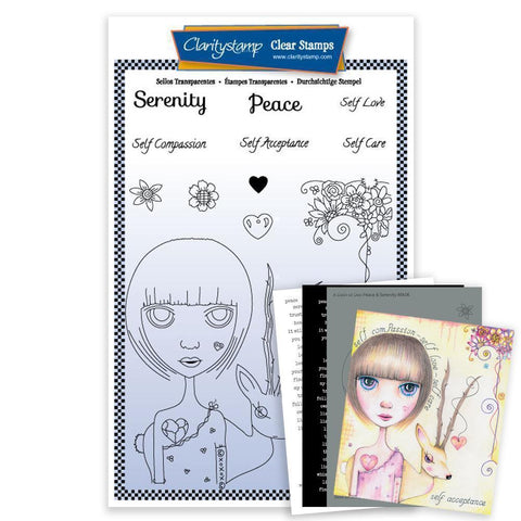 Dee's Friends - Serenity & Peace <br/>Unmounted Clear Stamp Set <br/>+ MASK & 2x Phrase Sheets