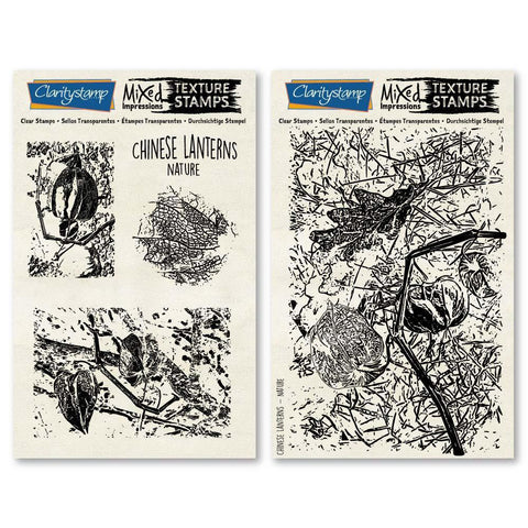 Chinese Lantern - Nature - Mixed Impressions <br/>Unmounted Clear Stamp Set