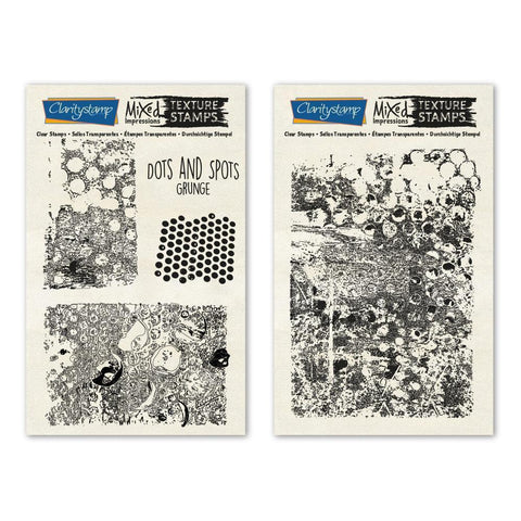 Dots & Spots - Grunge - Mixed Impressions Unmounted Clear Stamp Set
