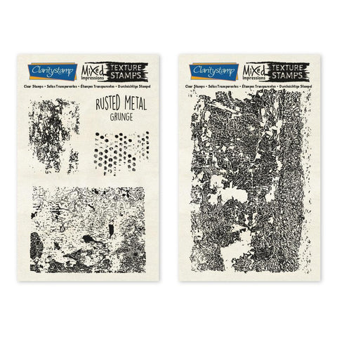 Rusted Metal - Grunge - Mixed Impressions <br/>Unmounted Clear Stamp Set
