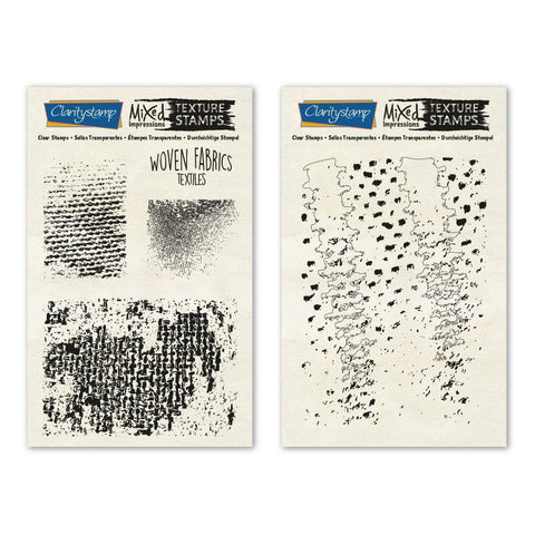 Woven Fabric - Textiles - Mixed Impressions <br/>Unmounted Clear Stamp Set
