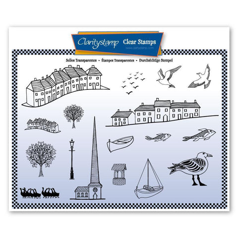 Village & Harbour Unmounted Clear Stamp Set