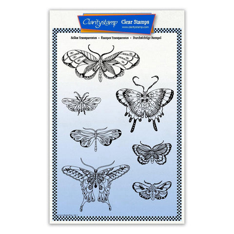 Cherry's Butterflies & Moths Unmounted Stamp & Masks - Set 1