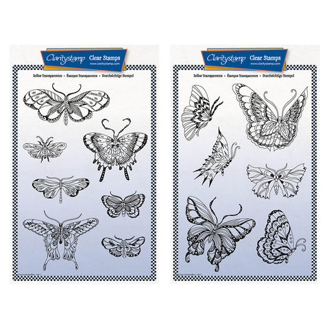 Cherry's Butterflies & Moths Unmounted Stamp & Masks - Collection