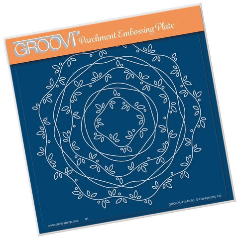 Nested Vines & Ribbon Border Frames <br/>A5 Square Groovi Plate