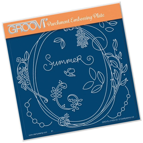 Entwined Summer Circle Wreath <br/>A5 Square Groovi Plate