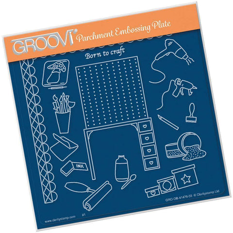 Crafting - Hobbies & Pastimes A5 Square Groovi Plate
