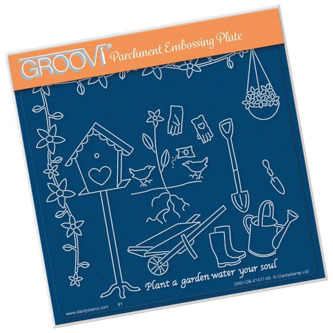 Gardening - Hobbies & Pastimes A5 Square Groovi Plate