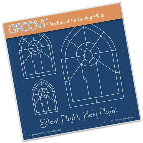 Candle Window <br/> A5 Square Groovi Plate <br/> (Set GRO-CH-40424-03)