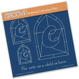 Madonna Window <br/>A5 Square Groovi Plate <br/>(Set GRO-CH-40424-03)