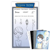 Small Dee's Friends - Brave <br/>Unmounted Clear Stamp Set <br/>+ MASK & 2x Phrase Sheets