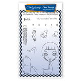 Small Dee's Friends - Faith Unmounted Clear Stamp Set + MASK & 2x Phrase Sheets