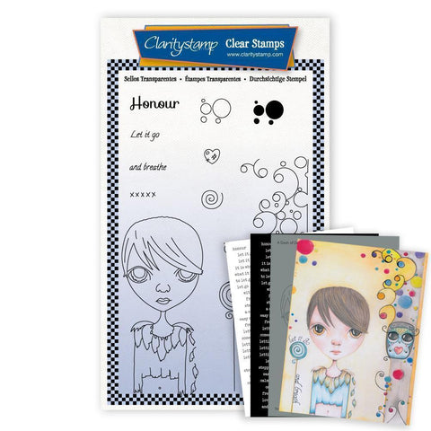 Small Dee's Friends - Honour <br/>Unmounted Clear Stamp Set <br/>+ MASK & 2x Phrase Sheets