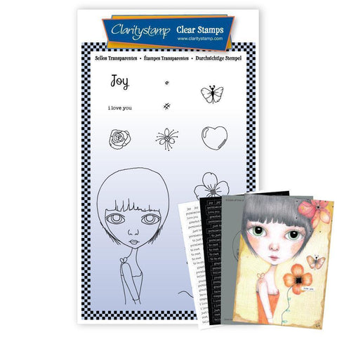 Small Dee's Friends - Joy Unmounted Clear Stamp Set + MASK & 2x Phrase Sheets