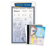 Small Dee's Friends - Patience Unmounted Clear Stamp Set + MASK & 2x Phrase Sheets