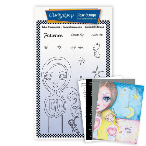 Small Dee's Friends - Patience <br/>Unmounted Clear Stamp Set <br/>+ MASK & 2x Phrase Sheets