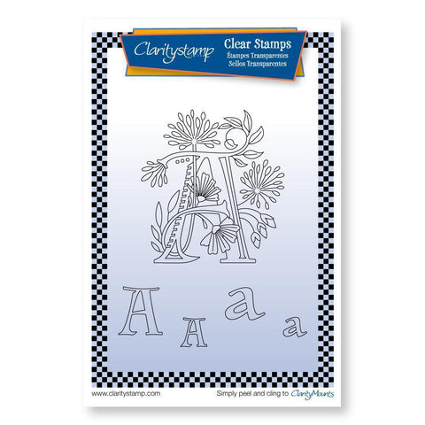 Floral Alphabet - Letter A <br/>Unmounted Clear Stamp Set